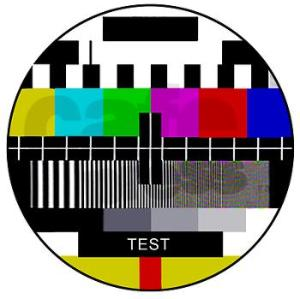 tv_test_pattern_framed_panel_print