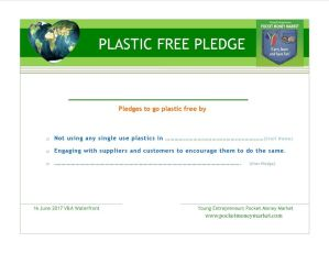 Plastic Free Pledge traders